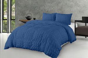 Parure de lit Metz Indigo Blue (200 x 220 cm)