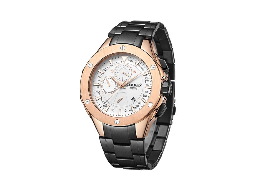 Sports Calender Automatic Rose herenhorloge van GAMAGES