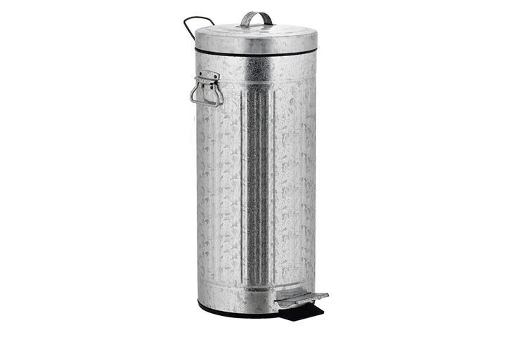 Zilverkleurige pedaalemmer (30 L)