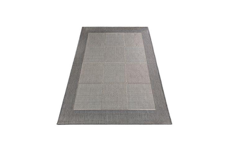 Grijs vloerkleed voor binnen en buiten (160 x 230 cm)