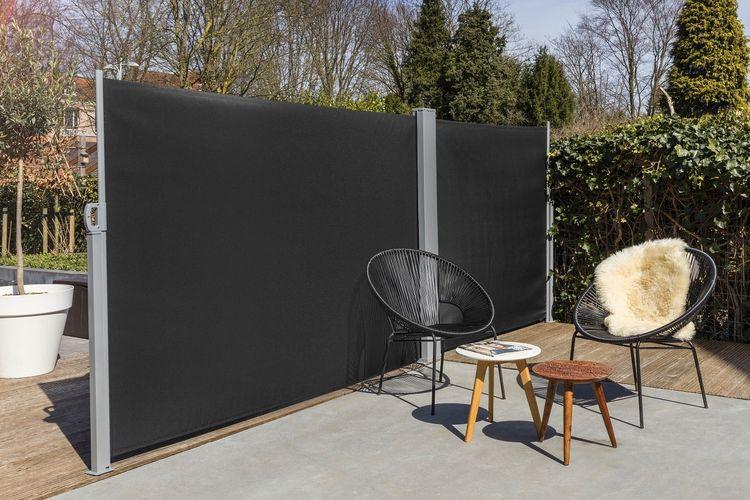 Dubbel, uitschuifbaar windscherm van Lifa Garden (6m)