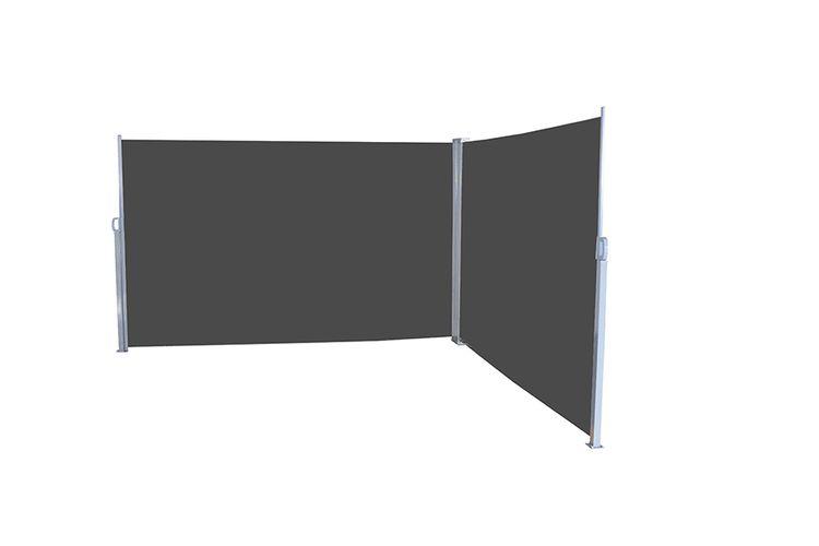pare vent double noir double pare vent r tractable pour votre jardin noir vavabid. Black Bedroom Furniture Sets. Home Design Ideas