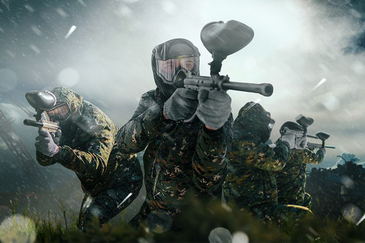 Airsoft of paintball met Battle Royale-thema (10 p.)