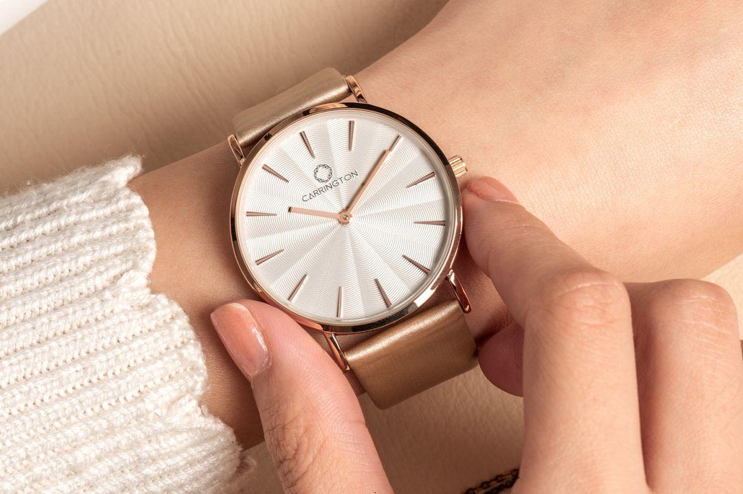 Dames horloge van Carrington (champagne)