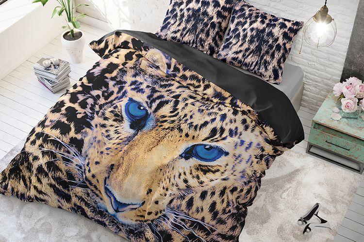 Katoenen dekbedovertrek Cheetah (240 x 220 cm)