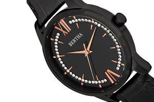 Horloge met leren band van Bertha