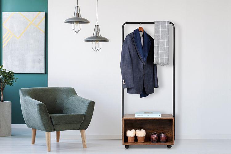 Stalen garderoberek (60 x 40 x 152 cm)