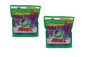 2 pakken met Ariel-pods (100 pods)