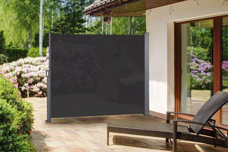 Pare Vent Retractable pare vent noir 170 - pare-vent rétractable (noir/hauteur 170 cm