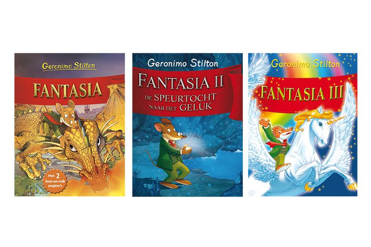 Fantasia-box met 3 boeken van Geronimo Stilton