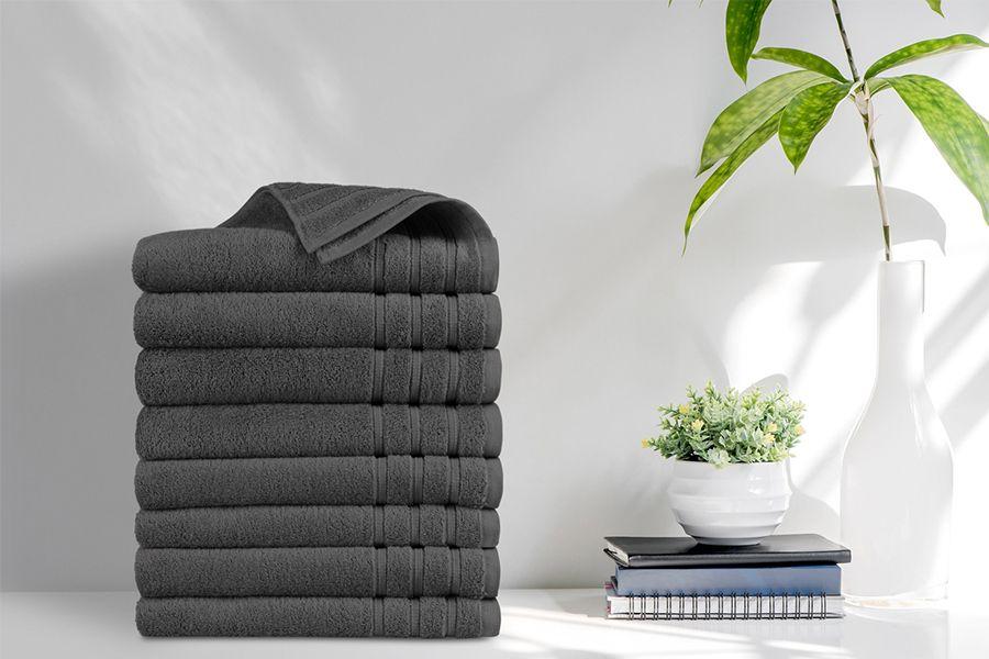 8 luxe handdoeken van EMSA Bedding (50 x 100 cm)