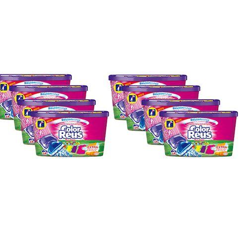 8 pakken wascapsules voor de bonte was van Color Reus