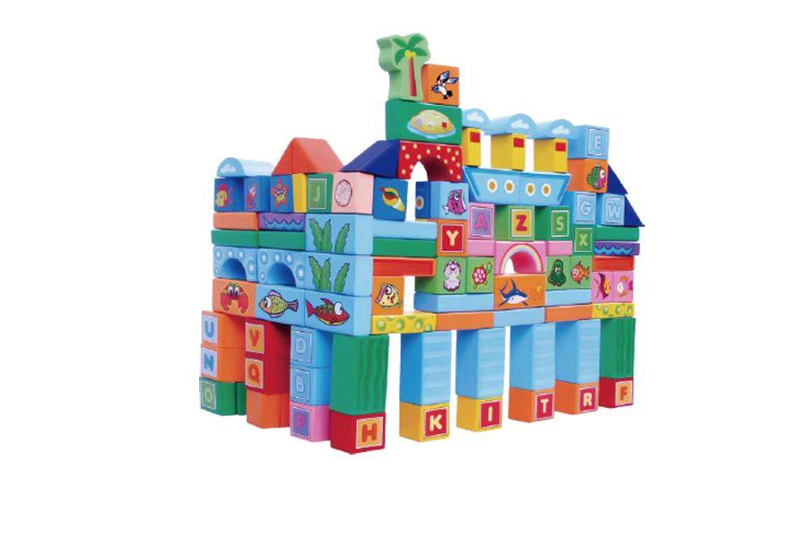 100-delige gekleurde blokkenset