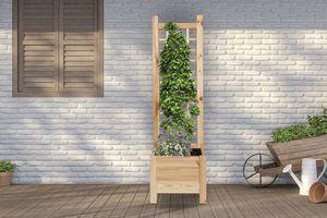 Houten plantenbak met rek (120 x 40 x 40 cm)