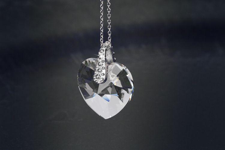Zilveren ketting met Swarovski-hanger van Di Lusso
