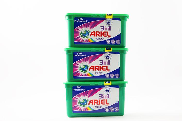 Ariel 3-in-1: 3 x 35 pods (gekleurde was)