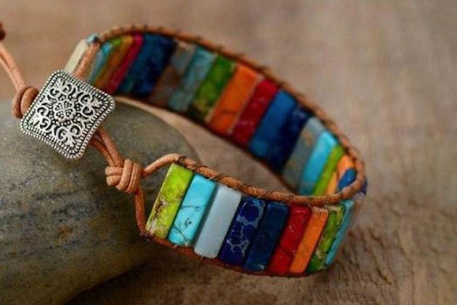 Armband met natuurstenen