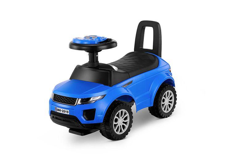 Blauwe SUV loopauto