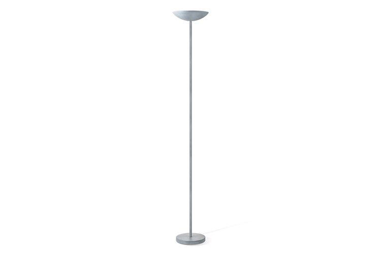 Betongrijze led-vloerlamp (hoogte: 180 cm)