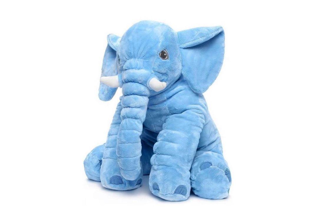 Blauwe olifantenknuffel (45 x 60 cm)