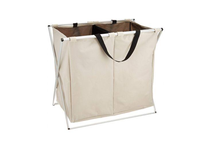 wenko panier a linge compartiments panier linge 2 compartiments capacit 120 litres. Black Bedroom Furniture Sets. Home Design Ideas