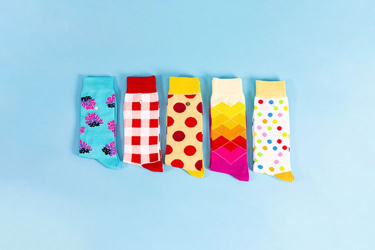 Giftbox met 5 paar sokken van Alfredo Gonzales (37 - 41)