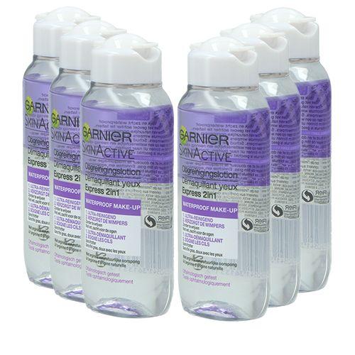 6 flessen waterproof oogmake-up remover van Garnier