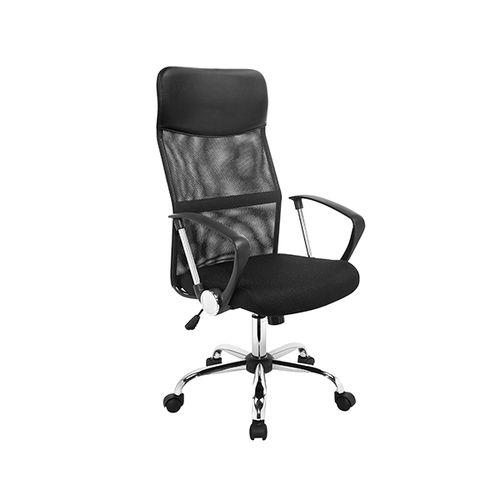 Zwarte professionele bureaustoel met armleuningen