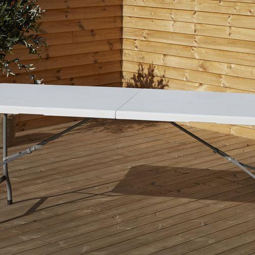 Outfit opvouwbare tafel van kunstof (180x75cm)