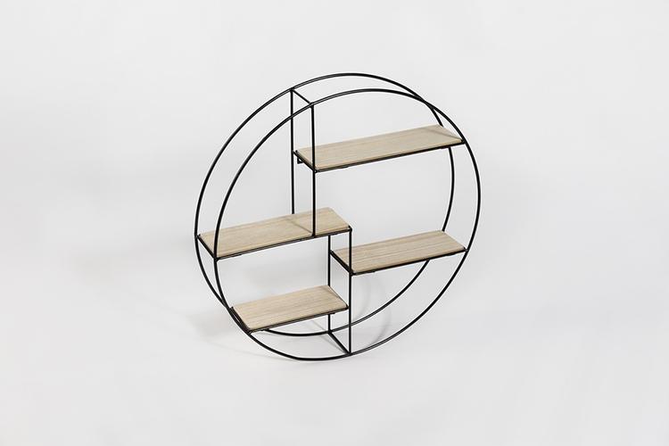 etagere ronde tag re ronde en bois diam tre 55 cm vavabid participez aux ench res. Black Bedroom Furniture Sets. Home Design Ideas