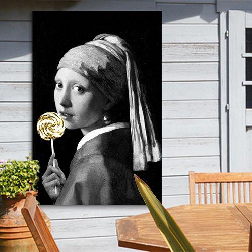 Excentrieke meester op tuinposter (80 x 120 cm)