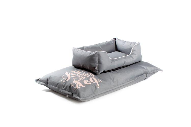 Comfortabele mand en kussen van Petstyle (grijs)