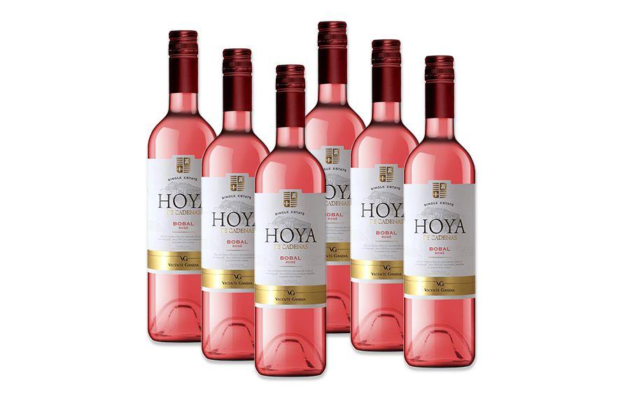 6 flessen Vicente Gandia Hoya de Cadenas Bobal ros�