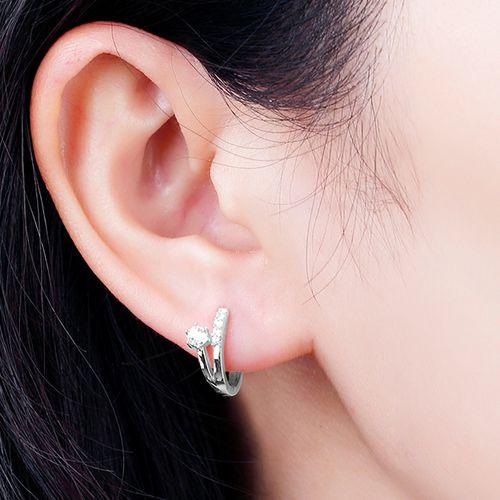 Zilverkleurige oorbellen Felina van Diabelle