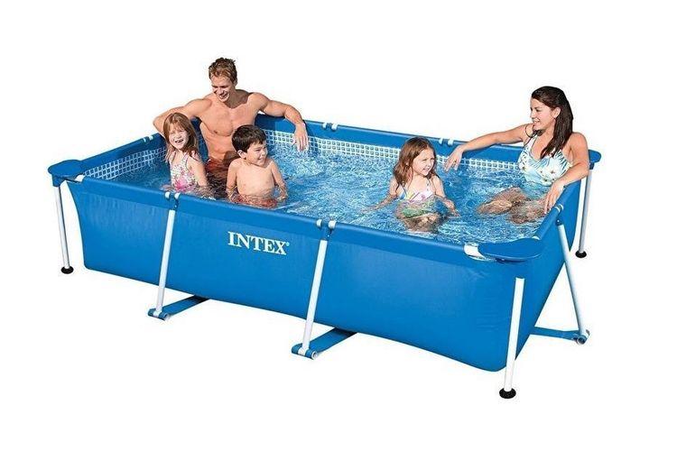 Korting Intex familiezwembad met frame (260 x 160 cm)