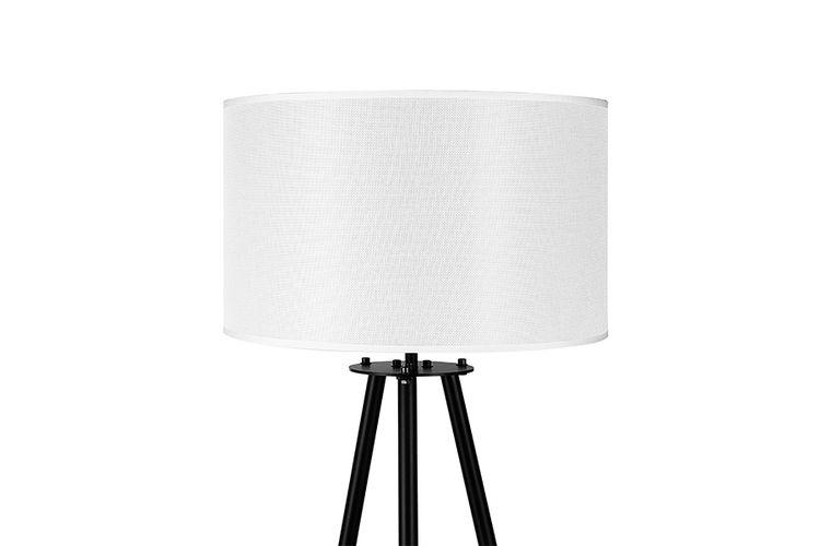 Staande lamp ecru moderne vloerlamp met ecrukleurige kap cm