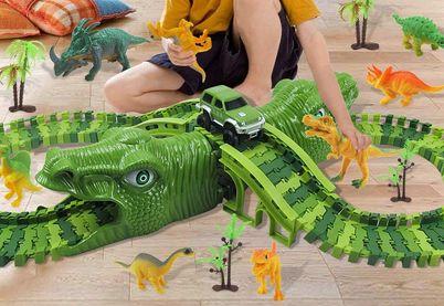 Circuit de voitures Dinosaure