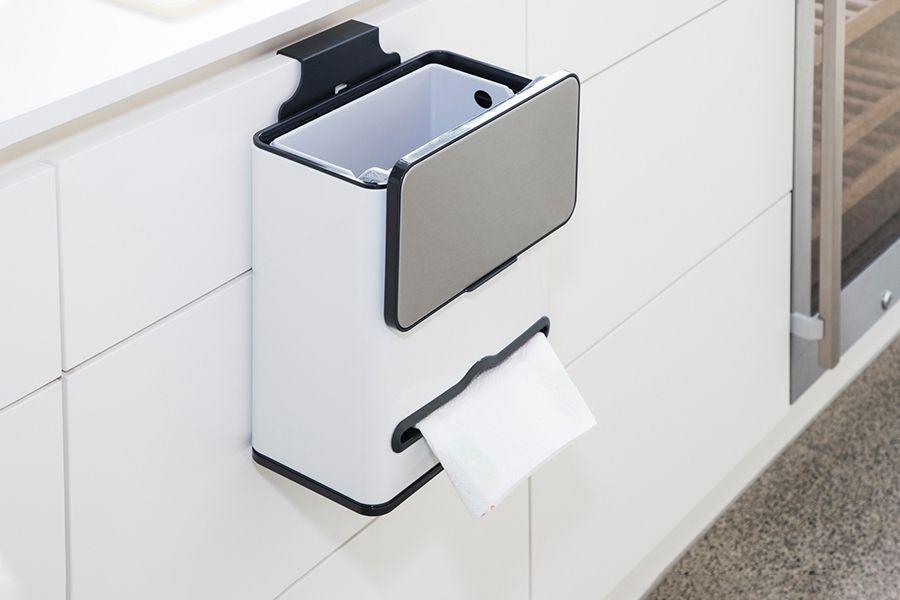 Keukenprullenbak met ingebouwde tissuebox (4 L)