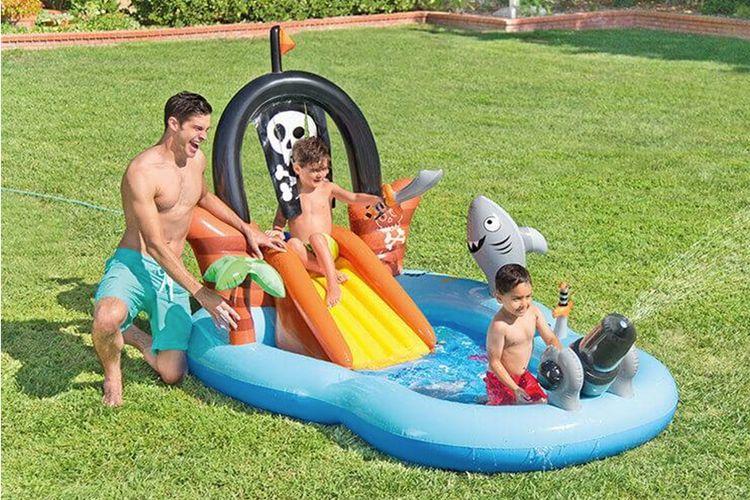 Opblaasbaar kinderzwembad in piratenthema van Intex