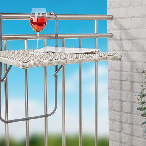 Balkontafel met rieten blad