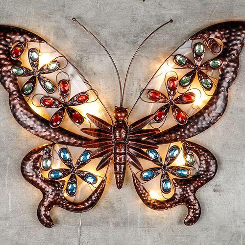 Vlinder-wandlamp op zonne-energie