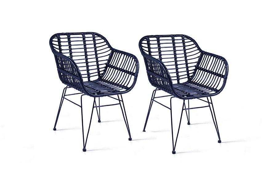 Set van 2 rattan stoelen