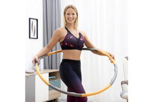 Verstelbare fitness hoelahoep met gewichten