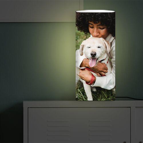 Jouw foto op een lamp