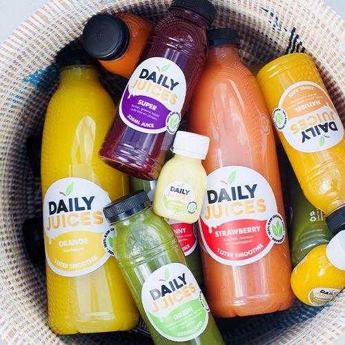 Kortingsbon voor sappen van Daily Juices
