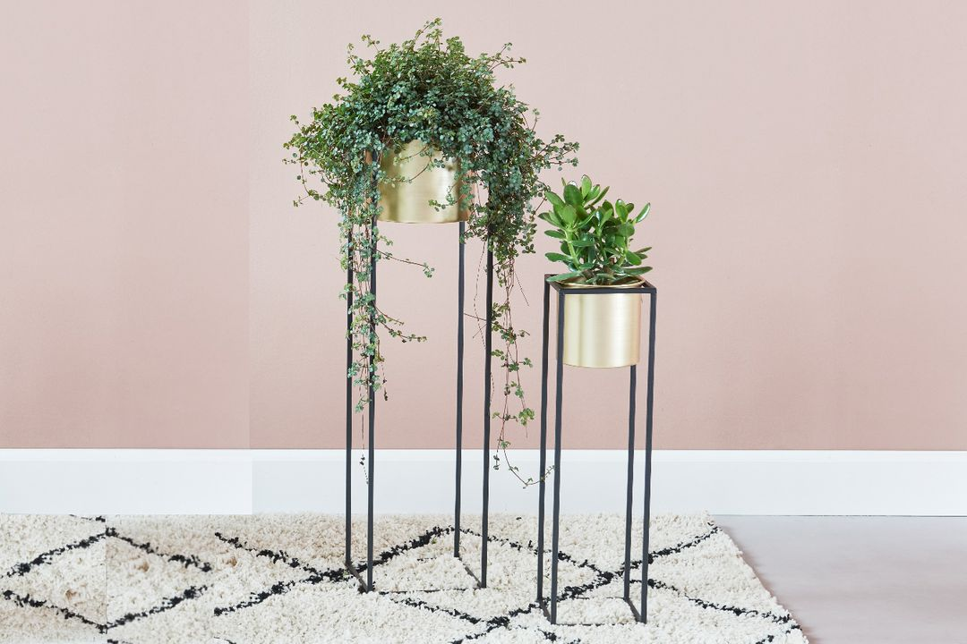 2 gouden plantenbakken van VELYON (model: Monaco)