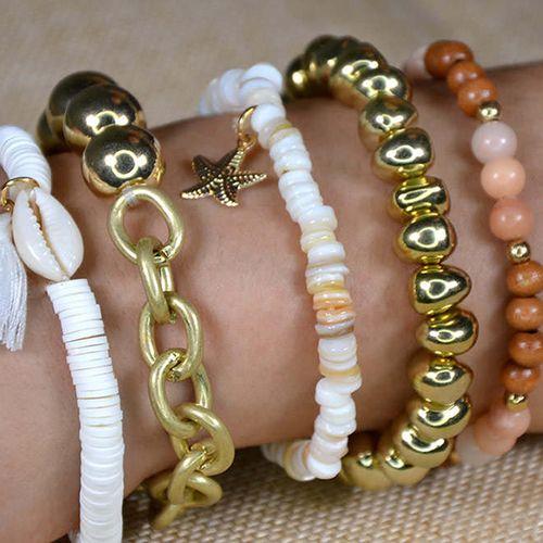 5-delige armbandenset voor dames