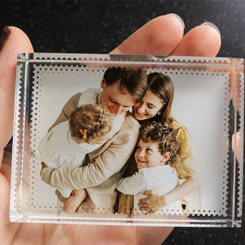 4 glasblokken met eigen foto (8 x 6 x 2 cm)