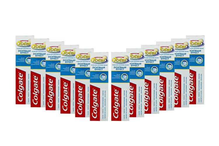 12 tubes Total Visible Effect tandpasta van Colgate