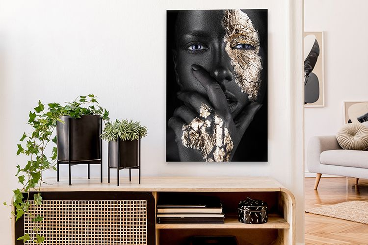 Black & Gold canvas 90 x 60 cm (12 varianten)